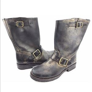Frye for Coach Veronica Short Metallic Leather